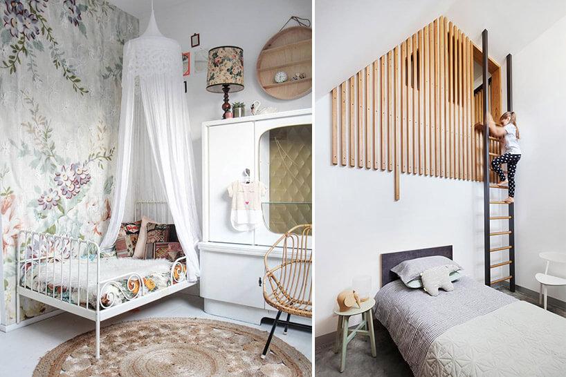 винтажный дизайн детской комнаты